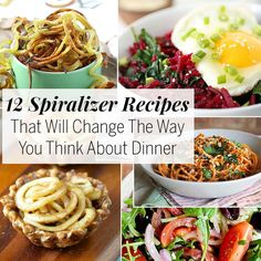 Transform squash and other vegetables into decadent dinners with these spiralizer recipes.