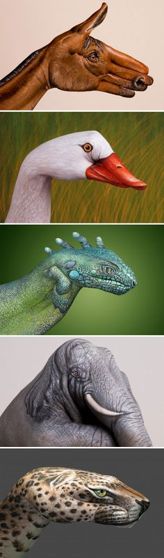 The stuff we humans can do ! Cool hand paintings.....