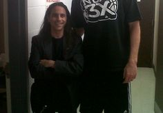 Matt Bonner from the San Antonio Spurs and I. I'm the one on the left.
