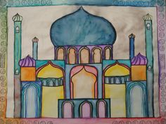a faithful attempt: Watercolour Mosque Paintings
