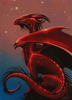 this dragon has something about it I cant explain! Its a feeling: a great Red Dragon image, wow. Fantasy Wesen, Fantasy Art, Cool Dragons, Dragon's Lair, Beautiful Dragon, Dragon Artwork, Red Dragon Painting, Dragon Pictures, Fire Dragon