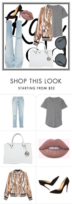 """""""Untitled #149"""" by madness4fashion on Polyvore featuring Current/Elliott, Madewell, Michael Kors, Sans Souci, Christian Louboutin and Prada"""
