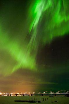 Northern lights over Luleå