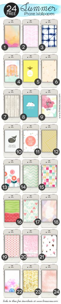 24 Graphic Summer iPhone Wallpapers - A great collection of fun free backgrounds for your phone.