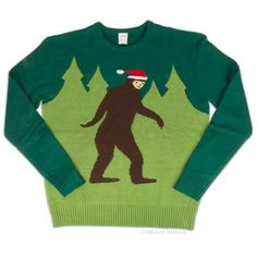 You won't see this Christmas sweater everywhere you go - Big Foot celebrates Christmas too - We'd hate to be the ones filling his stocking!