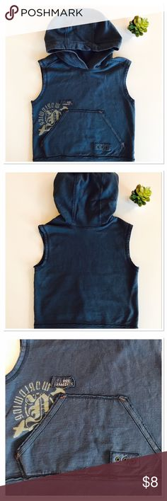 Naartjie sleeveless hoodie Another one of my favorite.......why do they have to grow so fast. Navy with no sleeves. Tag is cut out because it bothered him 😳. Size 5 naartjie Shirts & Tops