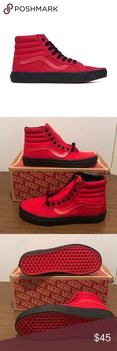 Vans Sk8-Hi Reissue Vans Sk8-Hi Reissue Black outsole  Racing Red/Black Vans Shoes