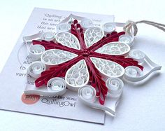 Christmas Snowflake ornament 2.Paper quilling decoration