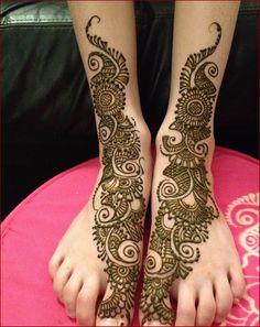 Arabic Mehndi Designs for Feet #Mehndi #MehndiDesigns #ArabicMehndi