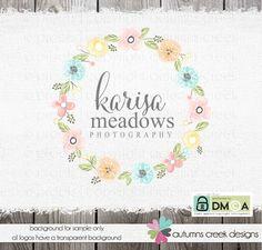 Premade Logo flower logo Photography logo clothing by autumnscreek