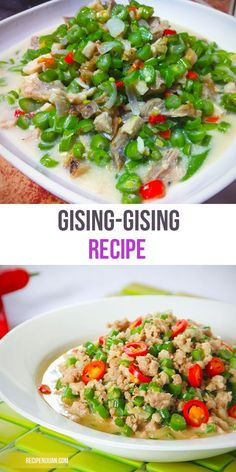 As Gising-Gising recipe is a straightforward sautéed recipe, what makes this dish special is the presence of the coconut milk as this makes the texture of the dish thicker.