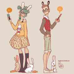 My daily bunny from yesterday and today. They belong together <3.  ______________________________________________ Art by Jessica Madorran TUMBLR BLOG SH...