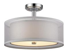 Dolan Designs - 1275-26 - Three Light Semi Flushmount - Chrome