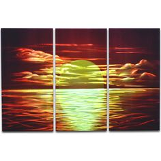 Amazing Sunset that will make guests talk about it! Create a stunning effect in the room. #metalart #homedecor #walldecoration
