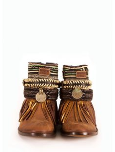 Must have #Ibizan #EMONK handmade brown leather Boho Boots