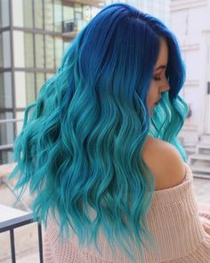 21 Trendiest Blue Hair Colors for Long Hairstyles In 2019 Find here the fantastic and trendiest blue hair colors for long hairstyles that make your look more aggressive. Either your hair are curly or straight, these natural colors make them beautiful. Pretty Hair Color, Beautiful Hair Color, Blue Ombre Hair, Ombre Hair Color, Pelo Color Azul, Pulp Riot Hair Color, Aesthetic Hair, Bright Hair, Colorful Hair