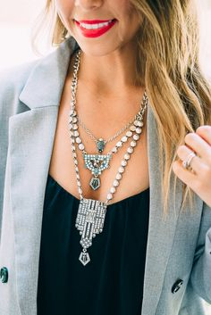 So Hot Right Now Look by @thefashionhour www.parklanejewelry.com/shop #soireenecklace #myparklanestyle #parklanejewelry