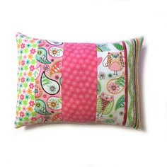 Colourful Owl Pillow Cover