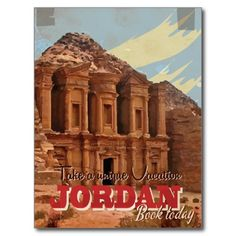 Jordan vacation Classic Travel Poster. Postcard