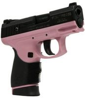 "where do I get one?     Taurus 24/7 .40 cal. S&W, 4"" barrel, 15+1 capacity. At 10.1 mm. it has more punch than a 9 mm. and offers less recoil than the .45. And it's girly! ;)"