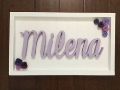 Wooden Name Sign Baby Shower Gift Newborn Nursery Name Letters