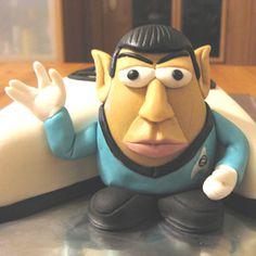 Mr. Spock Potato - Gumpaste/fondant Mr. Potato Spock figurine