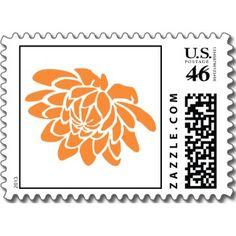 A Lotus Flower Stamp (orange) stamp