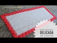 Passadeira de #crochê Delicada -Artes da Desi - YouTube Doilies, Bookmarks, Bath Mat, Rugs, Desi, Home Decor, Youtube, Bb, Crochet Kids Hats