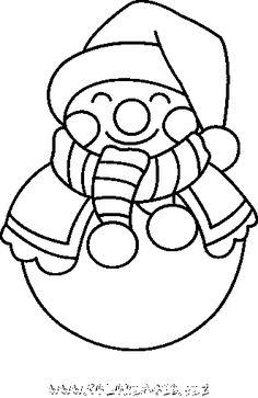 coloriage Bonhomme de neige gratuit 9669 - Noel