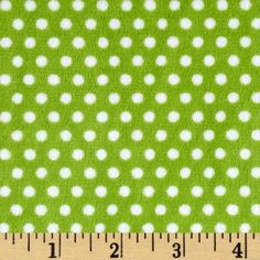 Minky Cuddle Classic Swiss Dot Jade/Snow from @fabricdotcom  This printed minky fabric has an extremely soft 3 mm pile that's perfect for apparel, blankets, throws, pillows and stuffed animals.