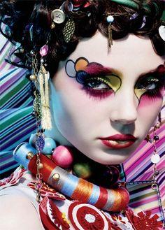 Crazy colourful makeup