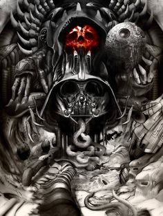Empire Strikes Back inspired by H.R. Giger, art by Jimiyo