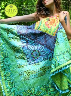 This free quilt pattern from Amy Butler is easy to assemble and would make a great beginner quilting project. Make it up using beautiful Amy Butler fabrics