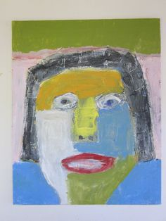Mixed Media Outsider Portrait Painting - Dave Charest