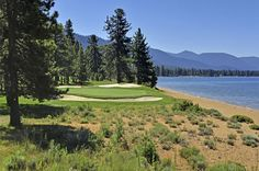 Edgewood Golf Course Lake Tahoe on the 17th Fairway. Gorgeous waterfront hole. www.TahoeActivities.com