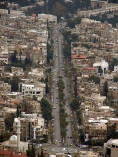 Abu Rummaneh Street in Damascus- Syria شارع ابو رمانة - دمشق