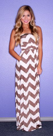 Sunkissed Stripe Maxi in Mocha | Impressions