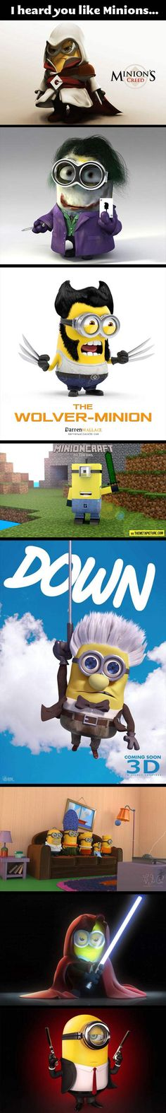 For Minion lovers… I love them all. Even the references I don't understand.