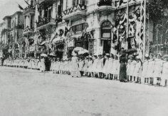 [Ottoman Empire] Salonica Visit of Sultan Mehmed V, 1911 [Thessaloniki, Greece] [Sultan Reşad'ın Selanik Ziyareti] Thessaloniki, Ottoman Empire, Greece, Lost, Europe, Island, History, Painting, Image