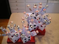 Playing card cake pops! Love this idea for a Poker Night or Vegas party! https://www.pinterest.com/MichaelDunar/followers/
