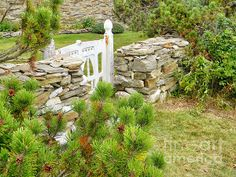 """The Gate by the Sea"" by Jean Goodwin Brooks.  This photo of a quaint gate was taken on Bailey Island, Maine."