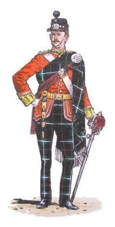 British; The Highland Light Infantry, 2nd Battalion, Company Officer, Full Dress, c.1895