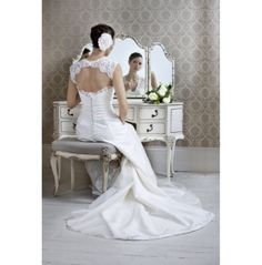 Beautiful lace wedding gown by holly