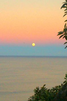 Sunset & Fullmoon rise :) Burleigh, Qld