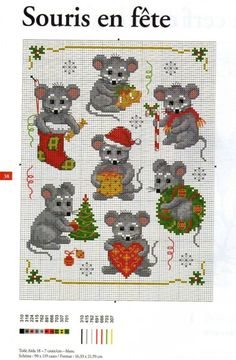 Gallery.ru / Фото #3 - Новогодние миниатюры - Los-ku-tik Cross Stitch Christmas Ornaments, Xmas Cross Stitch, Beaded Cross Stitch, Christmas Embroidery, Christmas Cross, Cross Stitching, Modern Cross Stitch Patterns, Cross Stitch Designs, Christmas Knitting Patterns