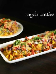 ragda patties recipe, ragda pattice recipe, ragada recipe with step by step photo/video. popular street food of india or chaat recipes served as fast food. Puri Recipes, Entree Recipes, Veg Recipes, Spicy Recipes, Lunch Recipes, Indian Food Recipes, Appetizer Recipes, Vegetarian Recipes, Cooking Recipes