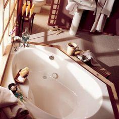 "American Standard 2664.20200C Scala 60"" x 60"" Drop In Corner Soaking Bath Tub with Left Hand Drain - FaucetDirect.com"