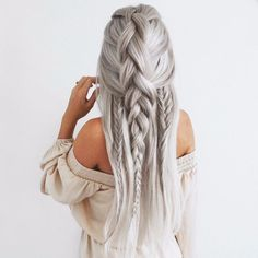 Ideas with braids hairstyles on long blonde hair