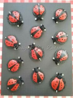 Lady bugs from seashells
