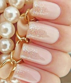 Pretty In Pink With This Glittery Nail Art